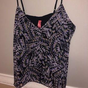 Eight Sixty Camisole Top, purple & black, Sz L